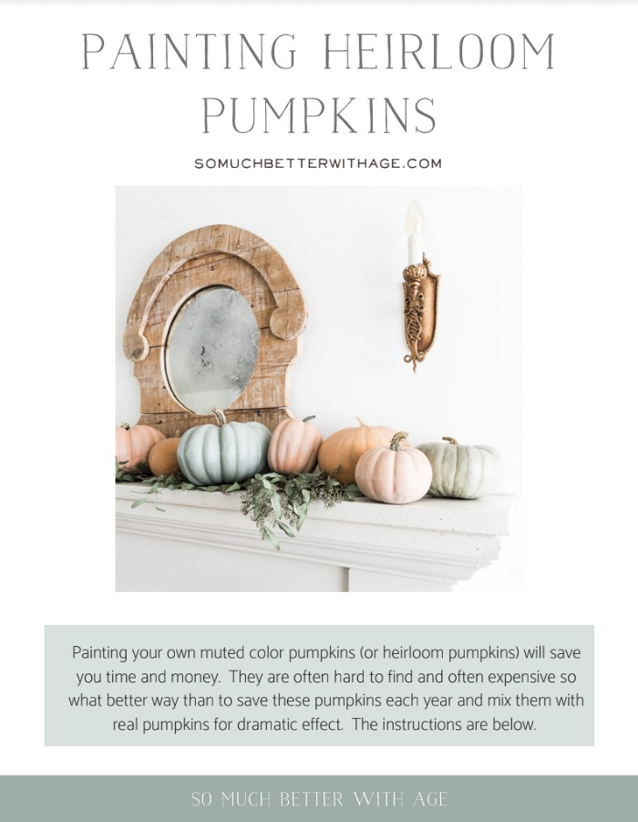 Painting Heirloom Pumpkins poster.