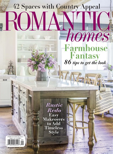 Romantic Homes magazine September 2018