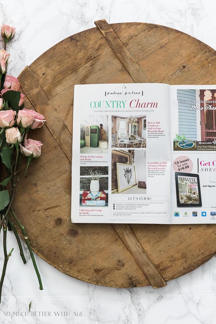 Romantic Homes magazine September 2018 - French Vintage Decor