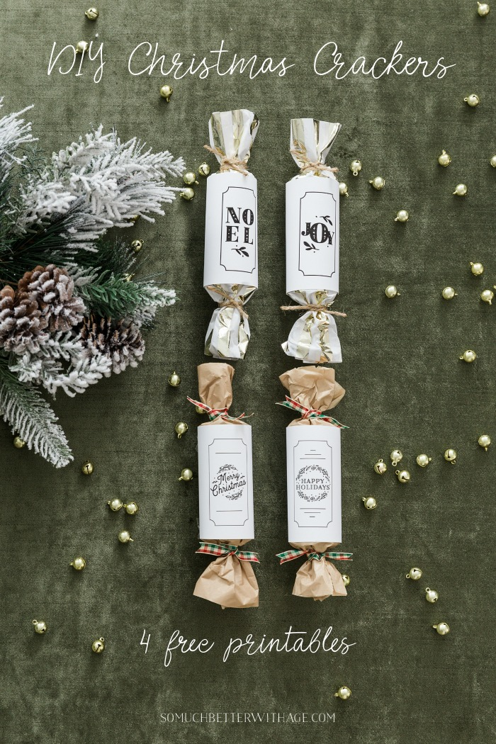 DIY Christmas Crackers 4 free printables - So Much Better With Age