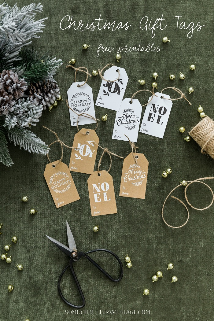 Christmas Gift Tags, free printables to download - So Much Better With Age