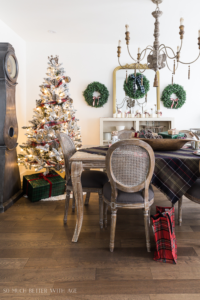 Christmas Plaid Table Setting/plaid tablecloth - So Much Better With Age