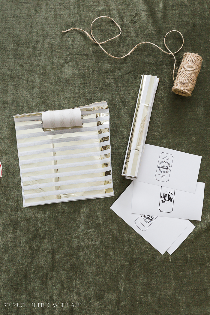 DIY Christmas Crackers/roll up toilet paper roll on tissue paper - So Much Better With Age