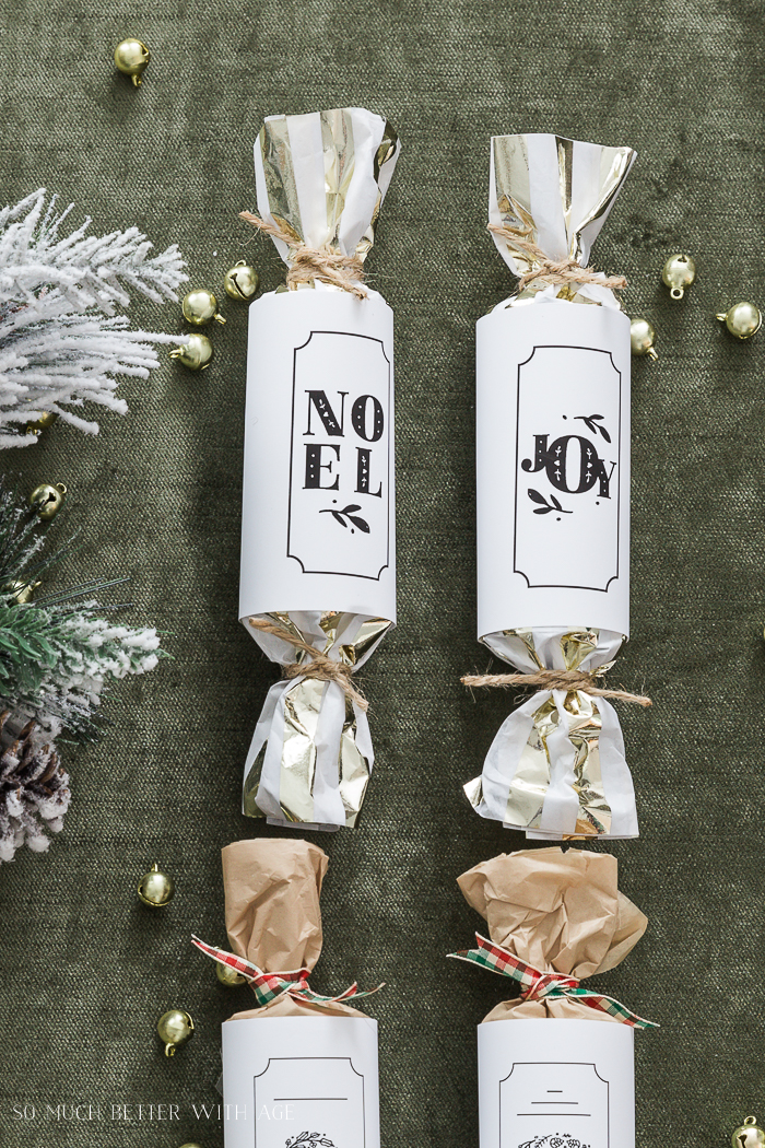 DIY Christmas Crackers/Noel & Joy - So Much Better With Age