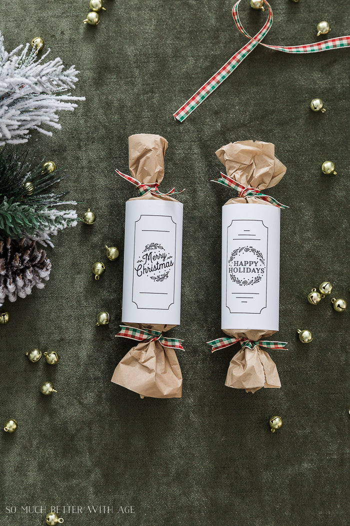 DIY Christmas Crackers/Merry Christmas - So Much Better With Age