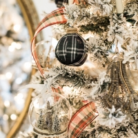 DIY Plaid Christmas Ornaments