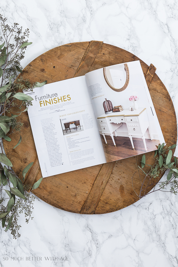 Featured in French Style magazine/French Vintage Decor book - So Much Better With Age