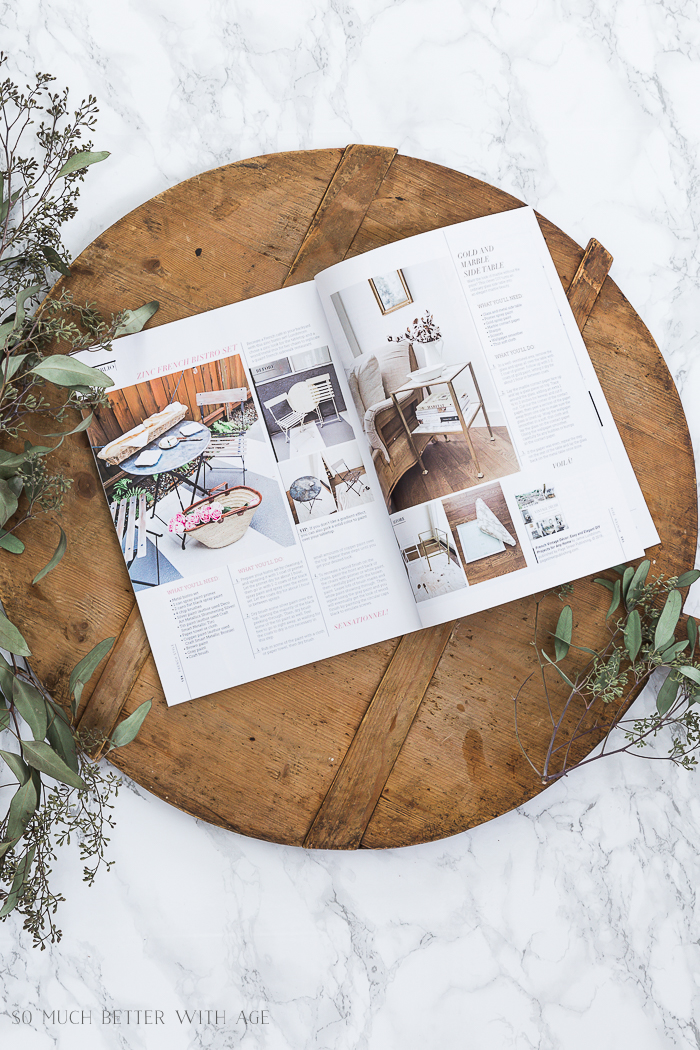 French Vintage Decor book featured in French Style magazine - So Much Better With Age