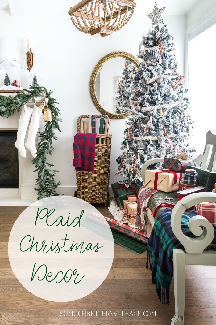 Plaid Christmas Decor graphic - So Much Better With Age