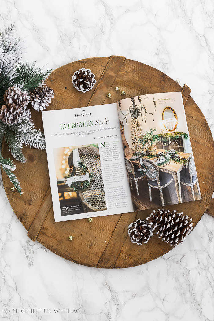 Romantic Homes Magazine Dec 2018 Evergreen Style Christmas