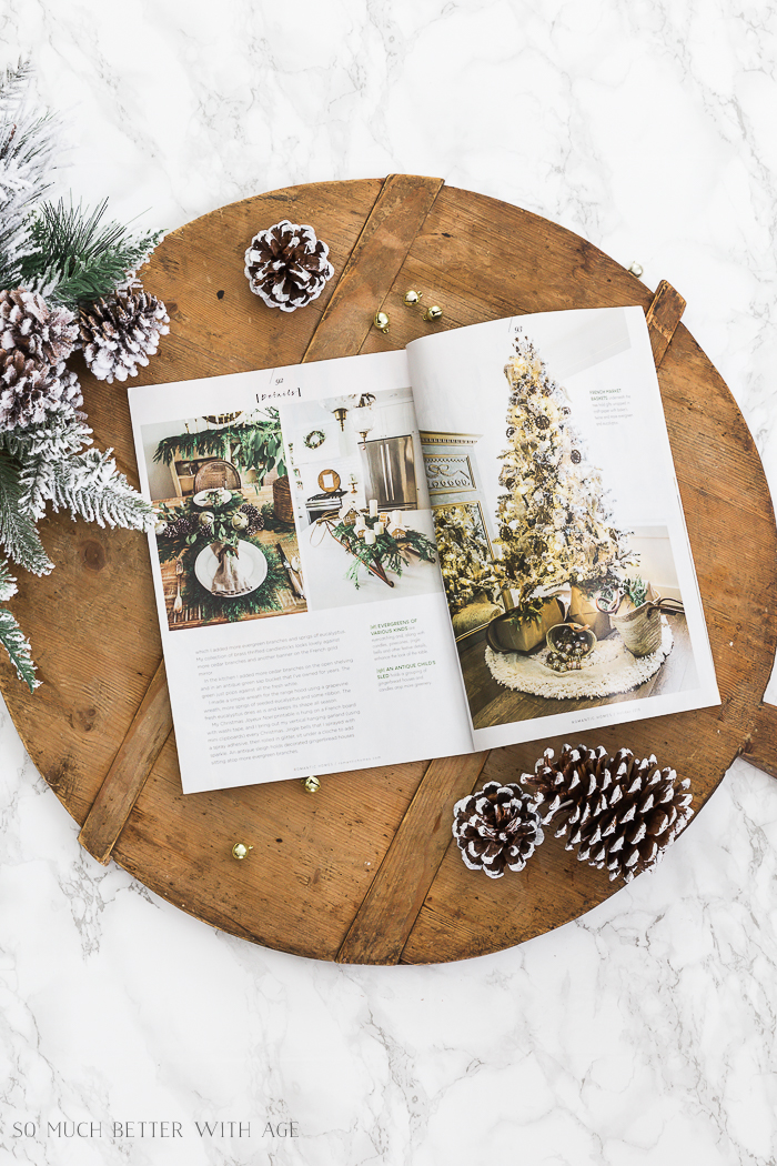 Romantic Homes Magazine Dec 2018 Evergreen Style Christmas - So Much Better With Age