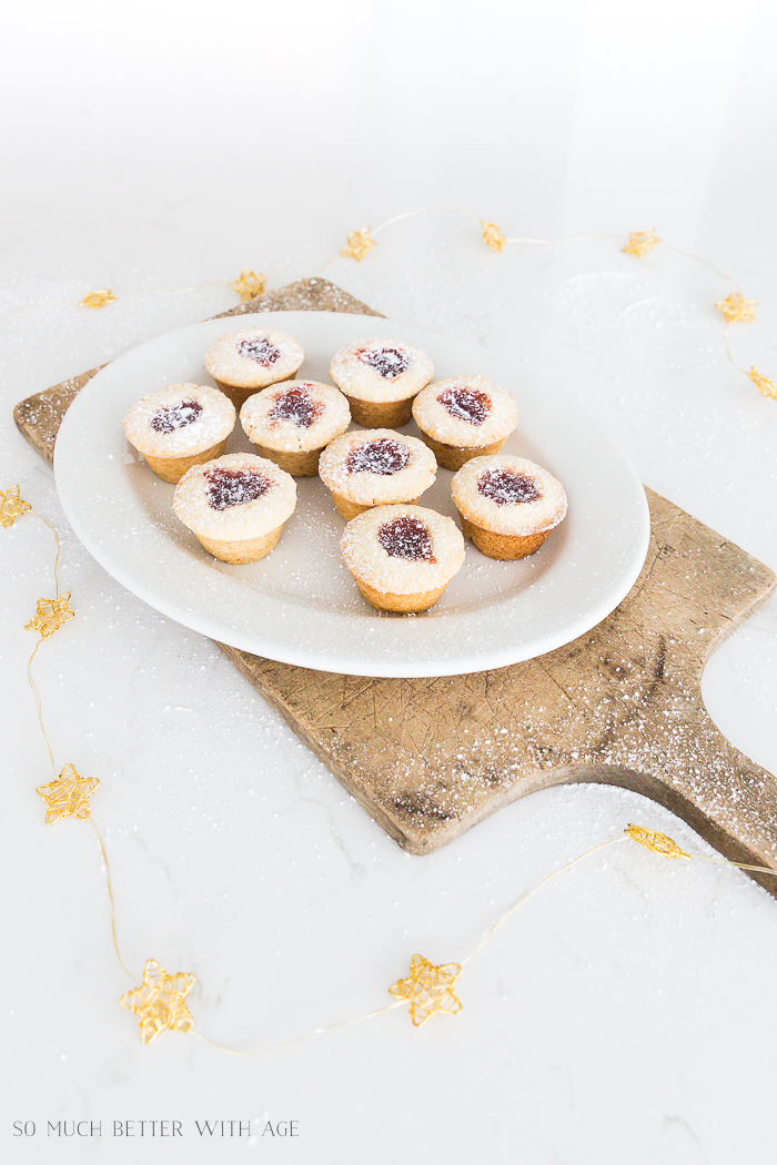 Thumbprint Cookies Using a Mini Muffin Tin/large thumbprint cookies - So Much Better With Age