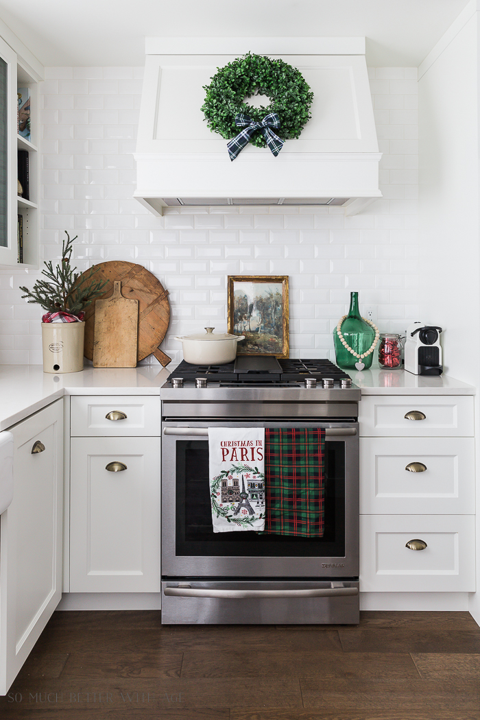 Tartan Plaid Christmas Decor in the Kitchen | So Much Better ... on remodeling ideas for kitchen, christmas decorations above kitchen cabinets, christmas decor for kitchen, design ideas for kitchen, organizing ideas for kitchen, christmas centerpieces for kitchen, christmas kitchen decor idea, color ideas for kitchen, home ideas for kitchen, christmas crafts for kitchen, christmas lights for kitchen, diy for kitchen, storage ideas for kitchen, paint ideas for kitchen, italy ideas for kitchen, lighting ideas for kitchen, sewing ideas for kitchen, painting ideas for kitchen, vintage ideas for kitchen, christmas rugs for kitchen,