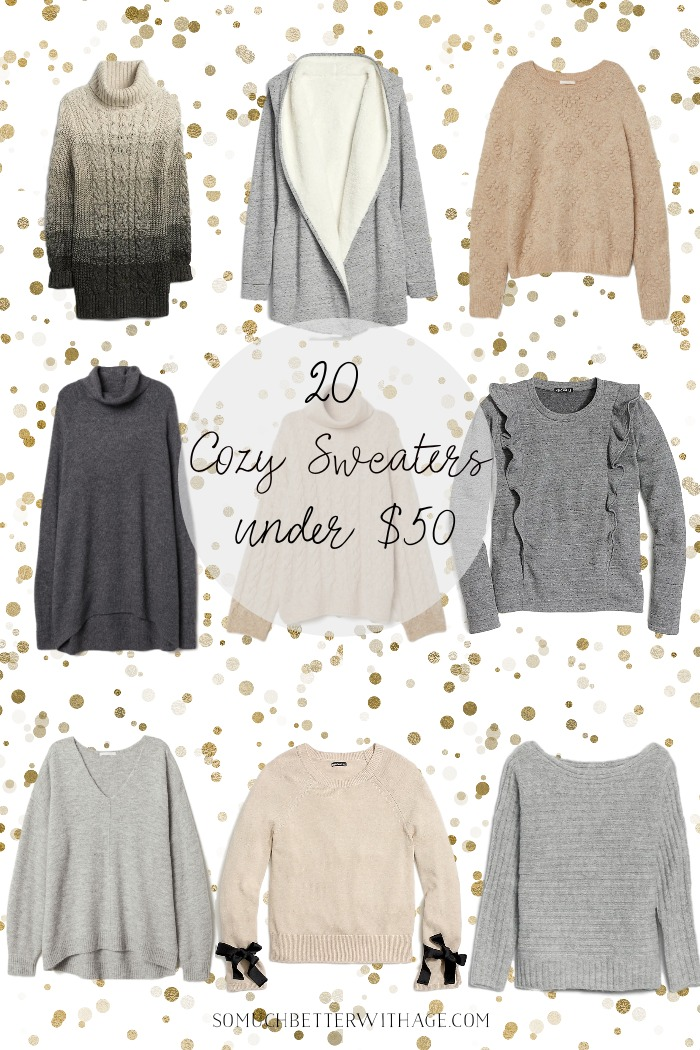 Gifts for Her - 20 Cozy Sweaters Under $50/Holiday shopping - So Much Better With Age