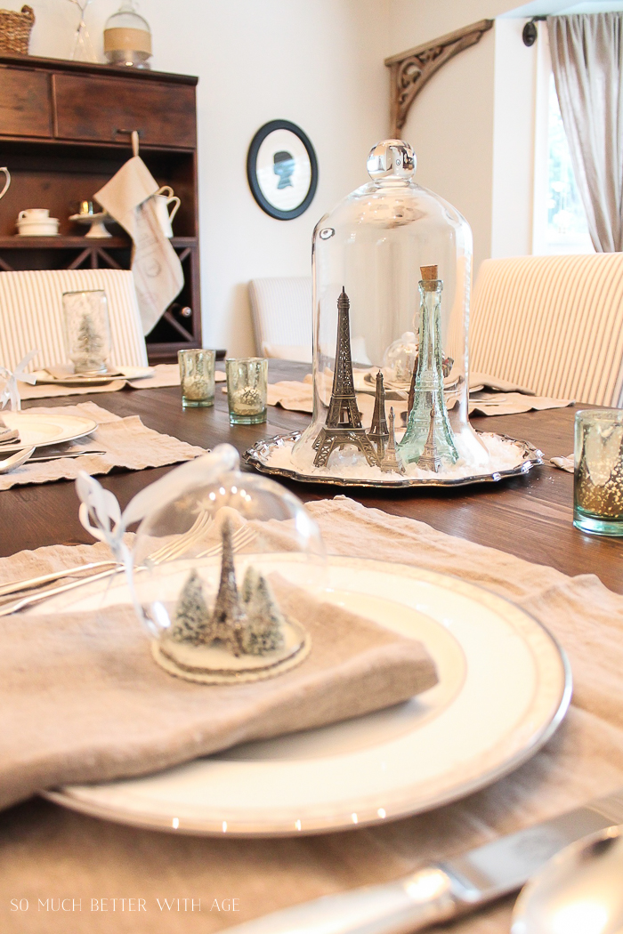 Beautiful Christmas Table Setting Ideas/Eiffel tower centrepiece - So Much Better With Age