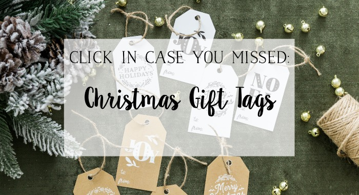 Christmas Gift Tags poster.