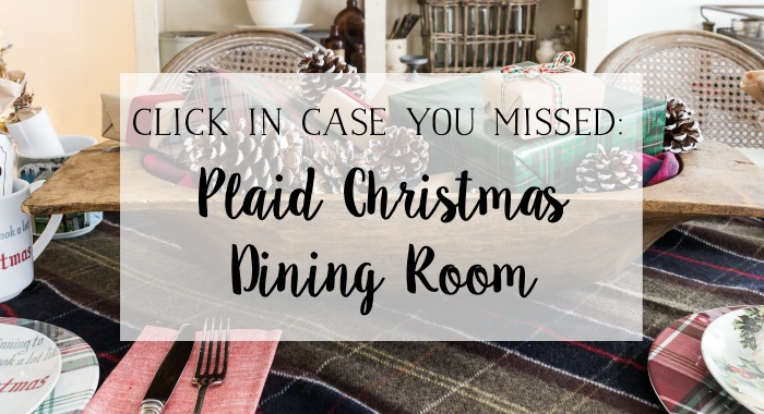 Plaid Christmas Dining Room poster.