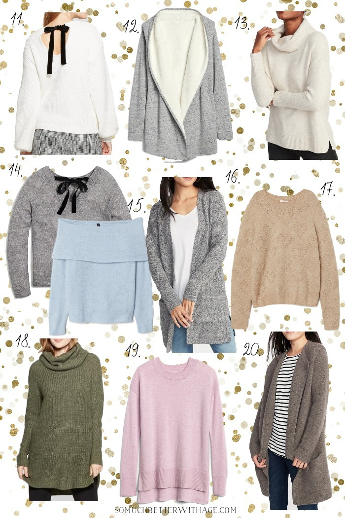 Gifts for Her - 20 Cozy Sweaters Under $50/Christmas shopping - So Much Better With Age