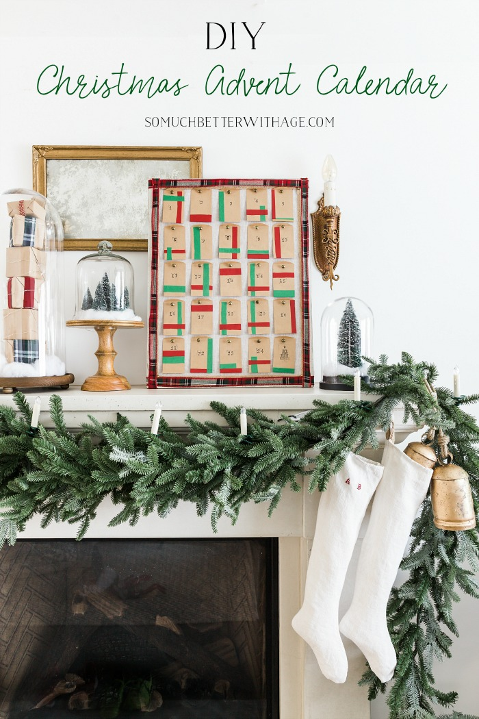 DIY Christmas Advent Calendar - So Much Better With Age #DuckTape #ad