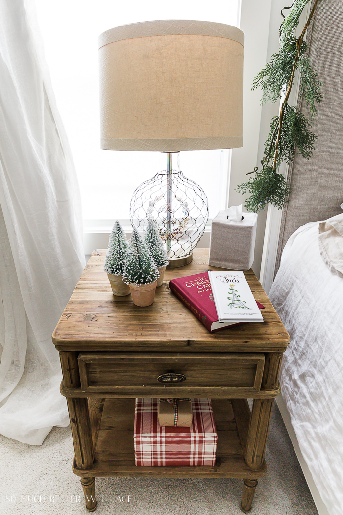 Simple Christmas Bedroom Decor/plaid gift wrapped gifts - So Much Better With Age