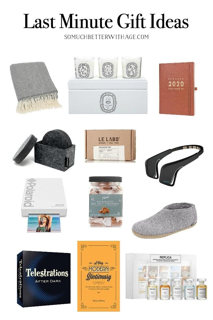 Last Minute Gift Ideas.