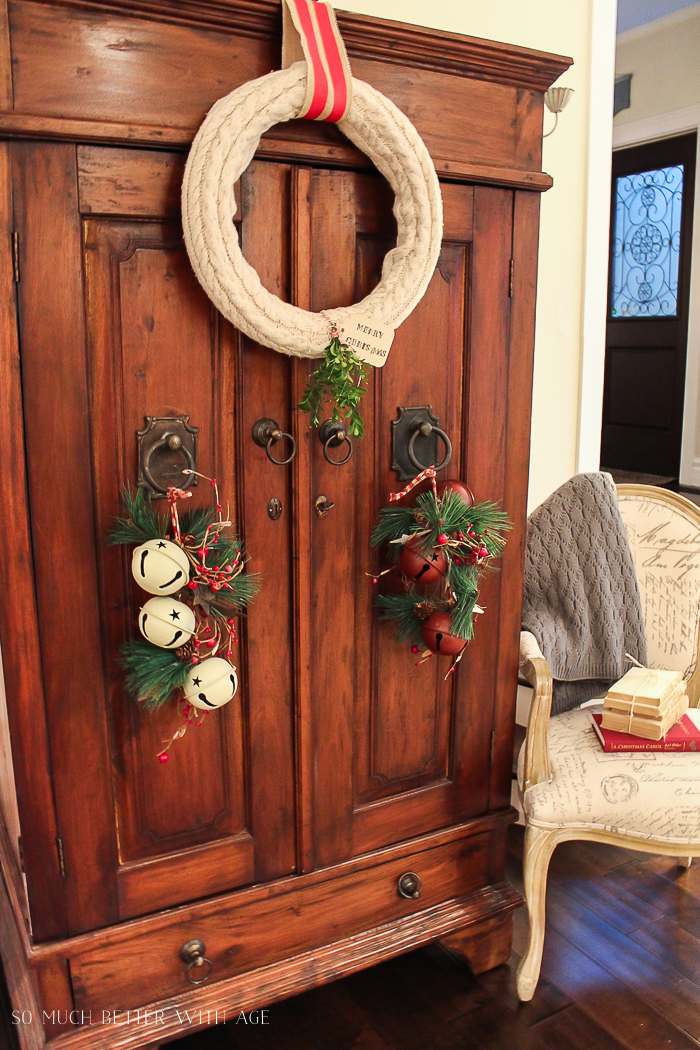 30+ Unique Christmas Decorating Ideas/wreath from sweater- So Much Better With Age