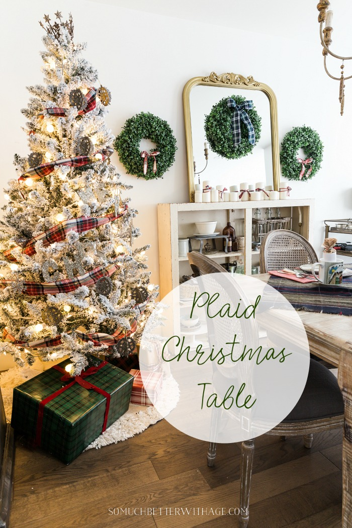 Plaid Christmas Table - So Much Better With Age