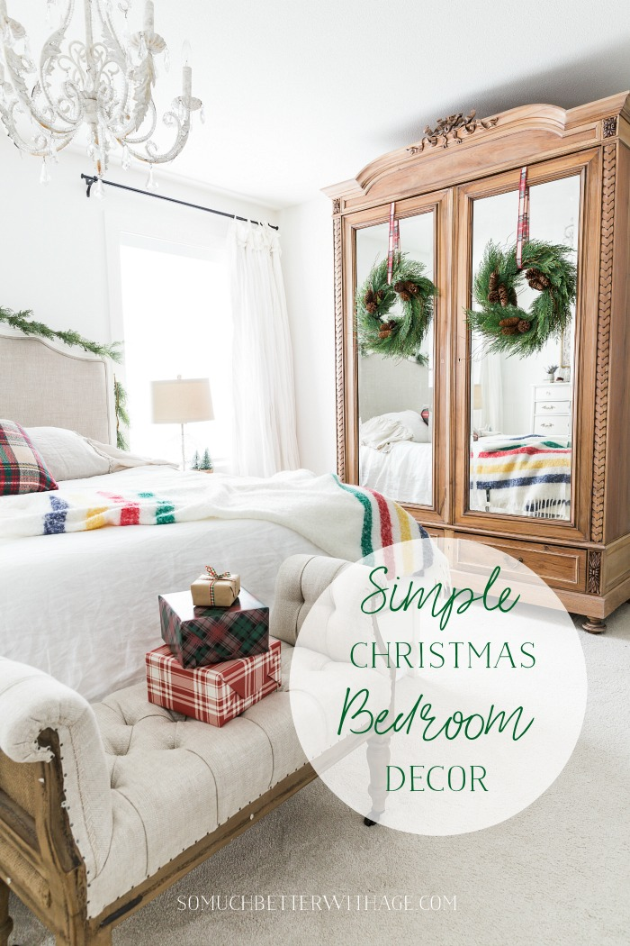 Simple Christmas Bedroom Decor graphic - So Much Better With Age