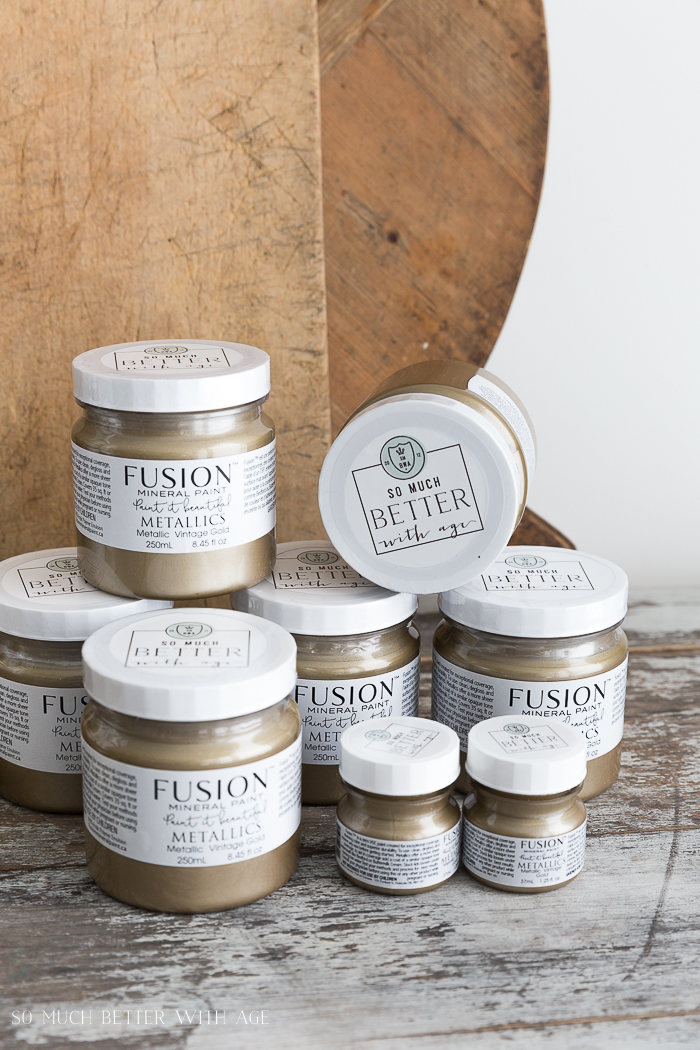 Vintage Gold metallic paint by Fusion Mineral Paint.