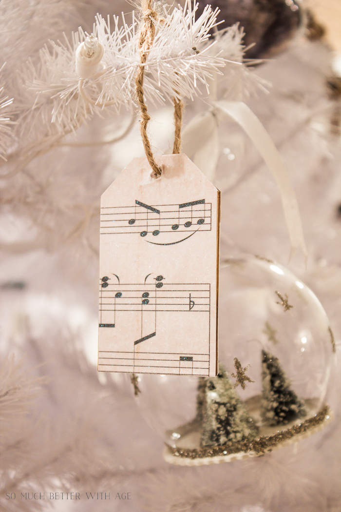 30+ Unique Christmas Decorating Ideas/sheet music ornament - So Much Better With Age