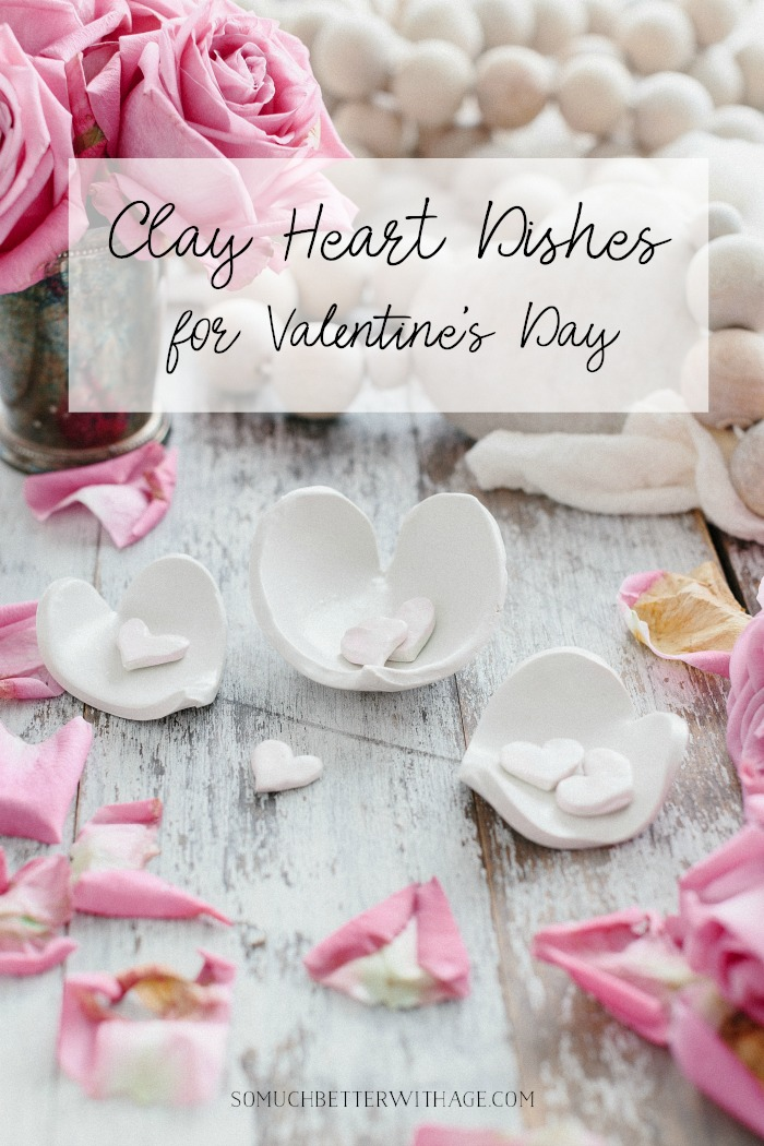 Clay Heart Dishes for Valentine's Day poster.