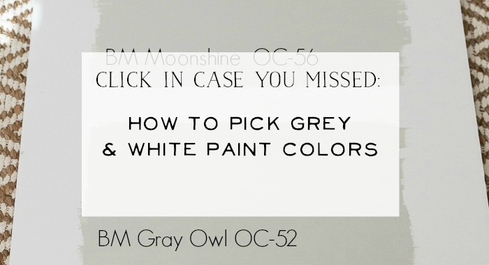 How to pick grey & white paint colors poster.