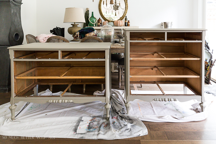How to Prep Furniture for Painting/painted dressers - So Much Better With Age
