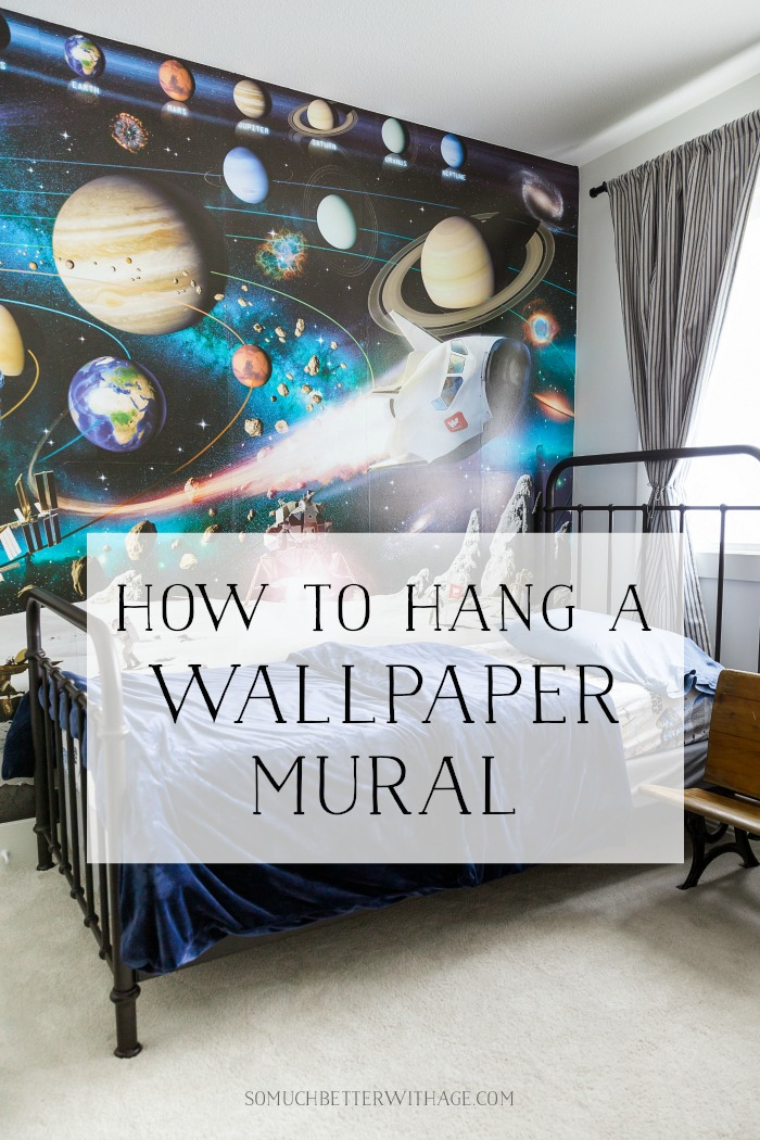 How to Hang Wallpaper (or a Mural) on One Wall | So Much ...