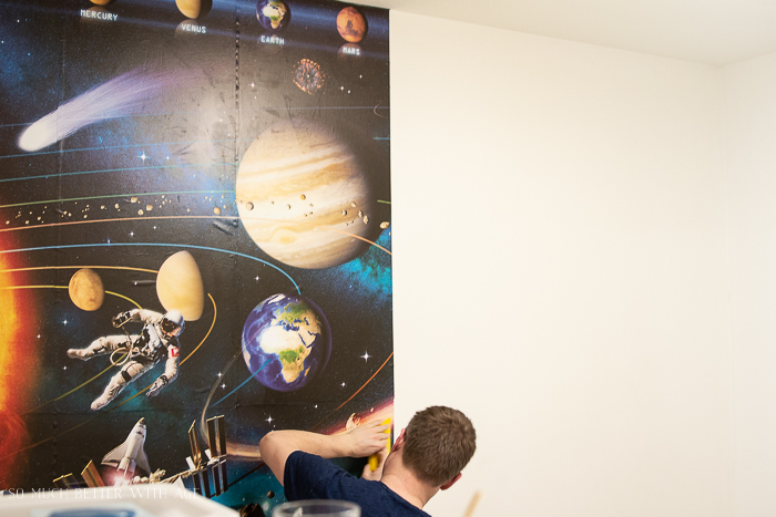 How to Hang a Wallpaper Mural - So Much Better With Age