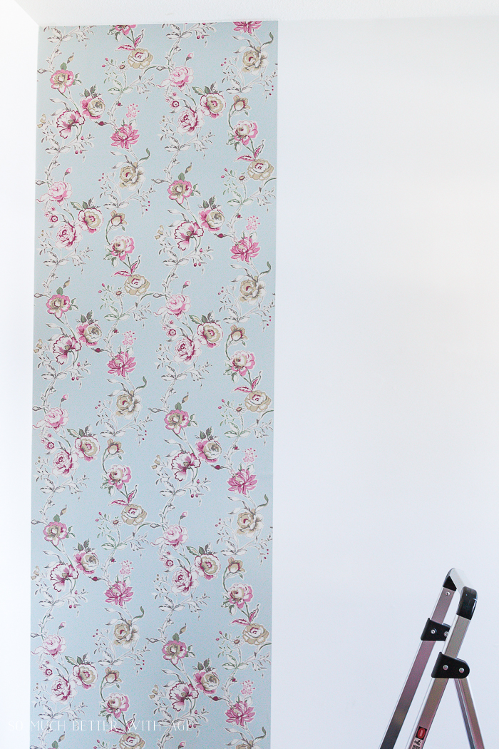 How to Hang Wallpaper on One Wall/prep for wallpaper hanging - So Much Better With Age