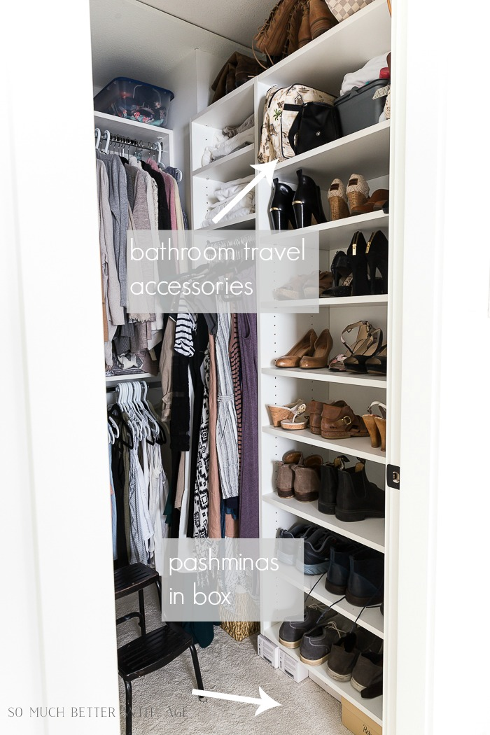 How to Declutter Your Closet and Purge Your Clothes/where everything goes in the closet - So Much Better With Age
