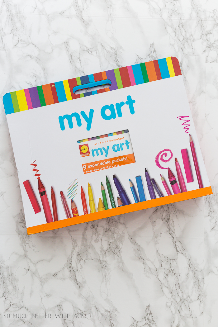 Organize Kids' Artwork - So Much Better With Age