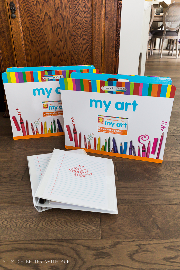 Organize Kids' Artwork/get organized with these art folders - So Much Better With Age