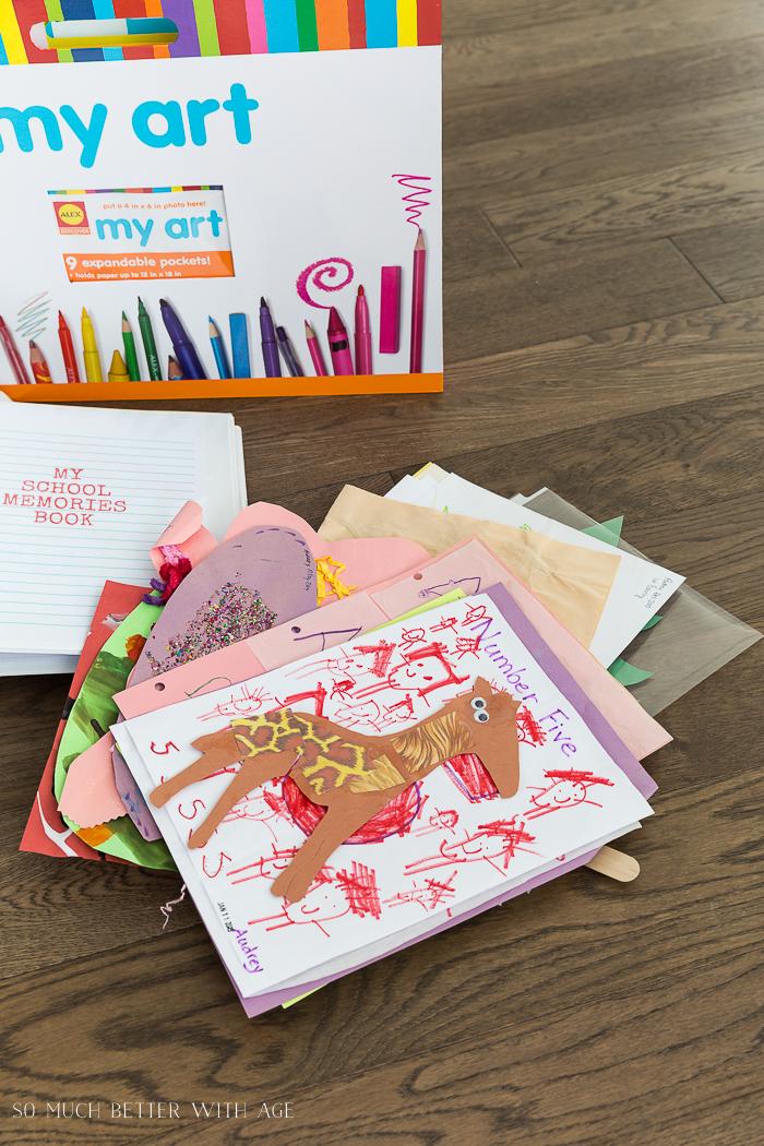 Organize Kids' Artwork/kindergarten art - So Much Better With Age