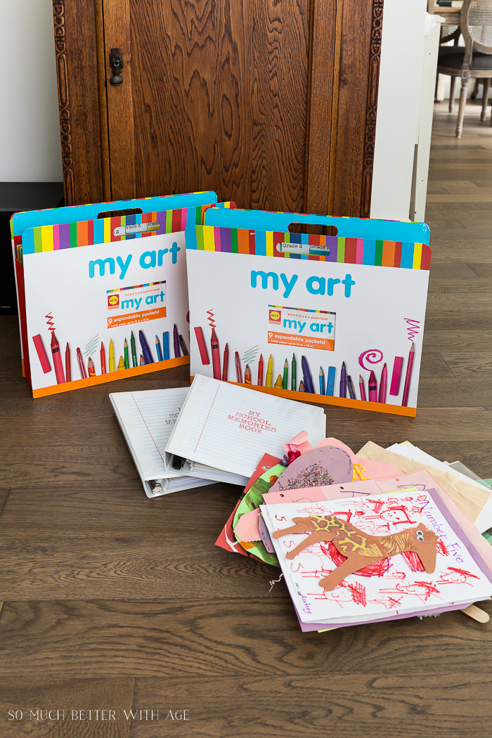Organize Kids' Artwork/artwork holders and binders - So Much Better With Age