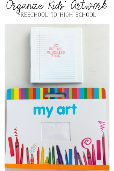 Organize Kids' Artwork