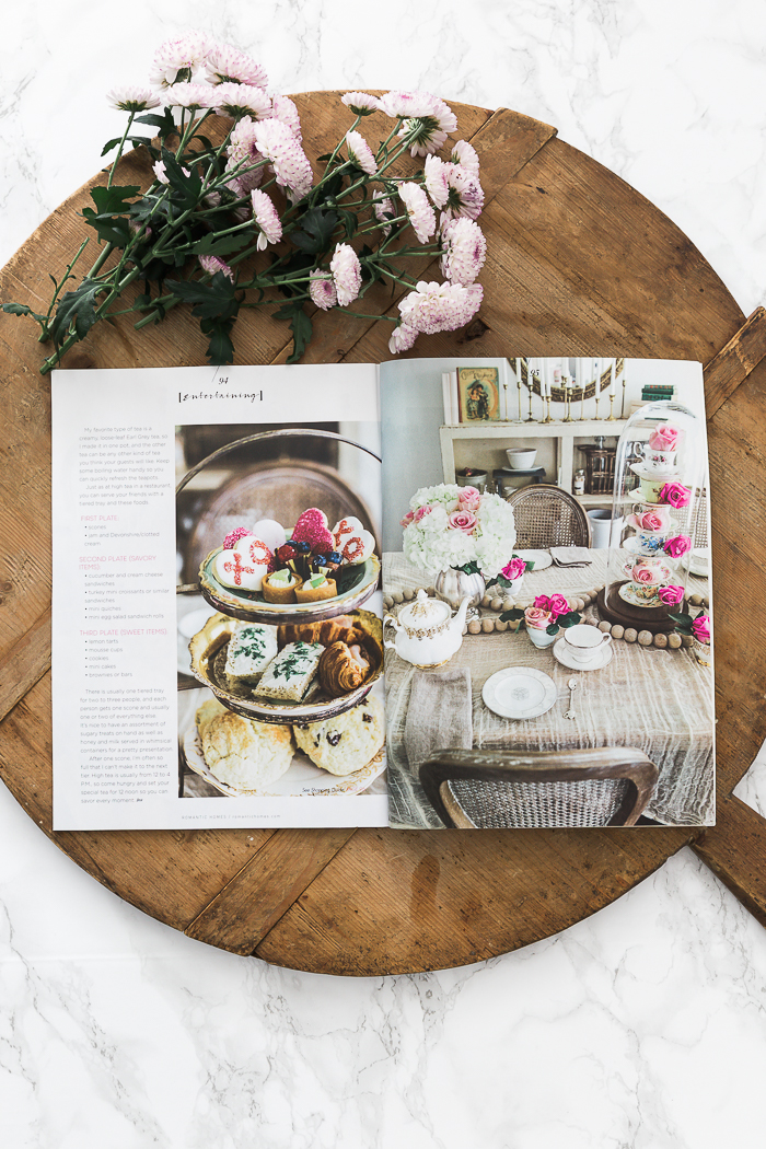 Romantic Homes Jan 2019 - High Tea Party for Valentine's Day