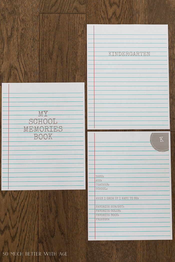 My School Memories Book - Free Printables K to Grade 12/grey printables - So Much Better With Age