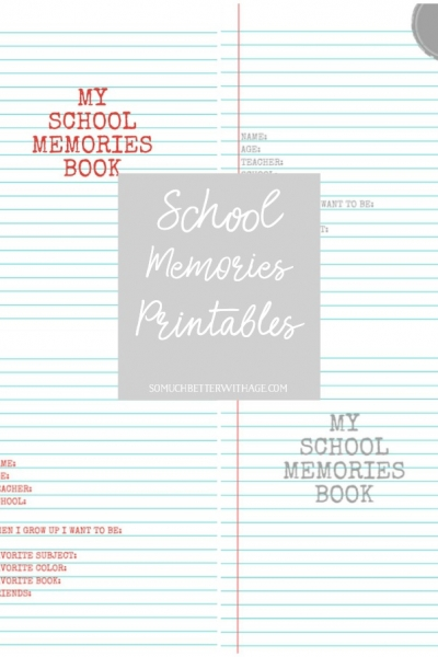 My School Memories Book – Free Printables K to Grade 12