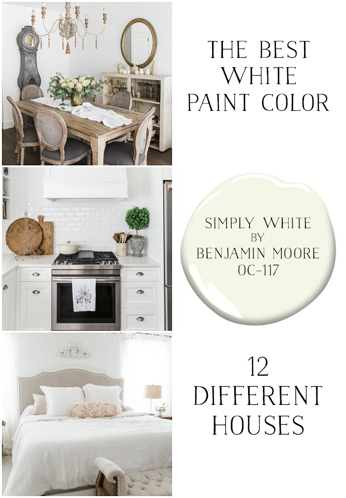 The Best White Paint Color (Simply White by Benjamin Moore) in 12 Different Houses - So Much Better With Age