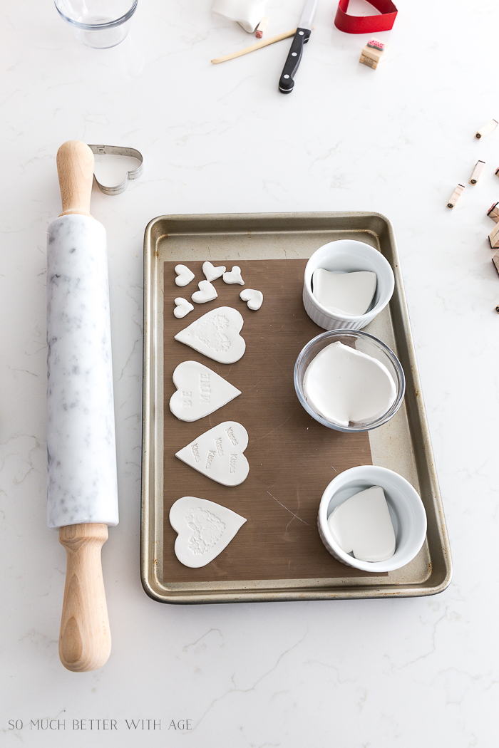 Clay Heart Dish for Valentine's Day/bake clay hearts in oven - So Much Better With Age