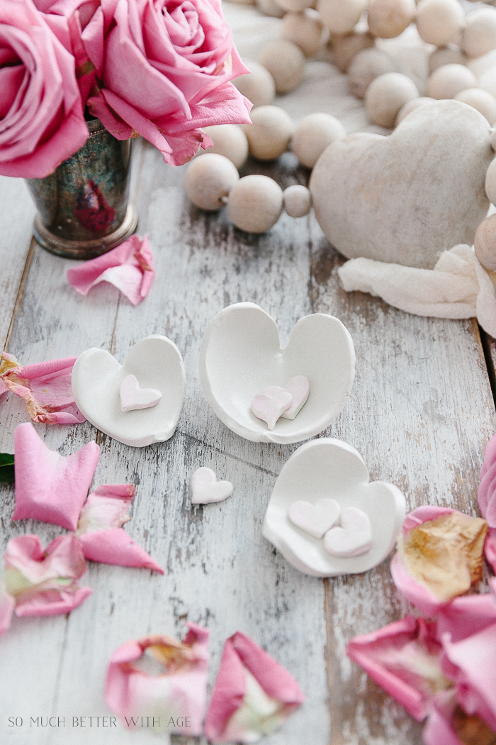 Clay Heart Dish for Valentine's Day / So Much Better With Age - Home Style Saturday