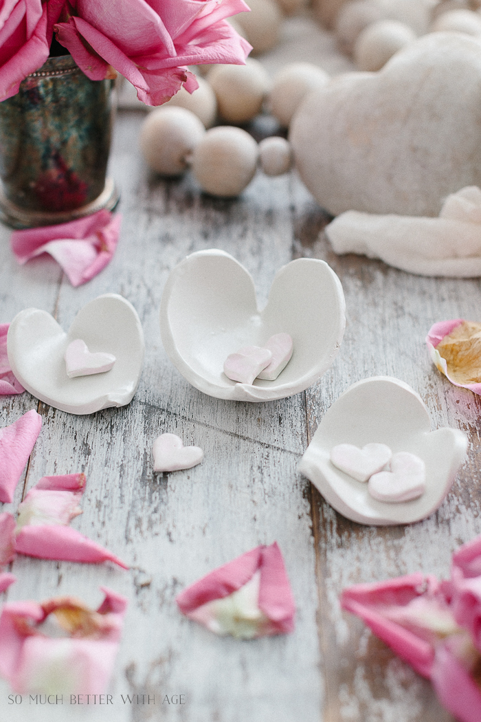 Clay Heart Dish for Valentine's Day/glazed pots.