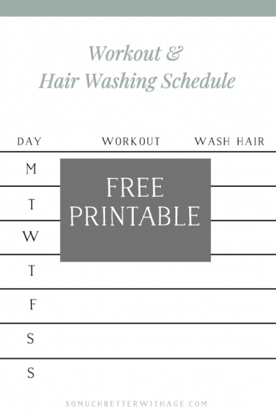 Easy Workouts at Home (& Workout and Hair Washing Schedule Printable)